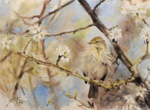 I full blom Akvarell28x38cm