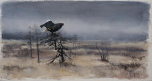 I martallen Akvarell56x100cm