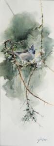 Trogen vän Akvarell24x66cm